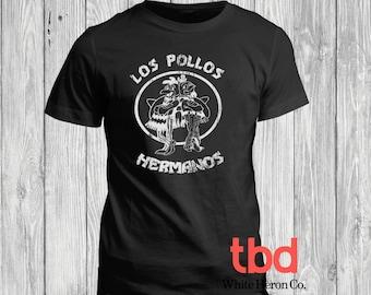 Vintage Los Pollos Hermanos Graphic Tee for Mens (unisex t-shirt funny break bad look very soft)