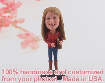 Gift for women, Gift for her, Gift for wife, Custom Bobblehead, womens gift, Christmas girlfriend, gift for mom, best friend gift