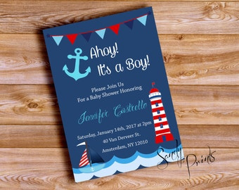 Nautical Baby Shower Boy or Girl