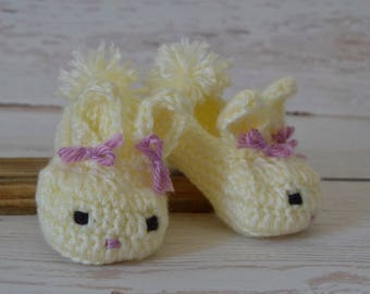Crochet Easter, Baby shoes, crochet baby shoes, bunny shoes, crochet bunny shoes, baby booties, newborn shoes, baby shoes