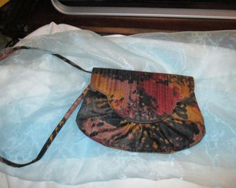 Stuart Weitzman, made in Italy, Multicolored Fabric Purse with Shoulder Strap