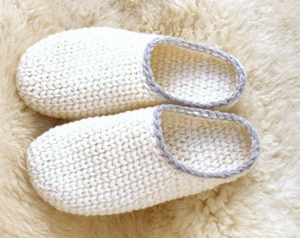 Crochet-Knit Slipper-Clogs - Basic Pattern - Instant Download Pdf