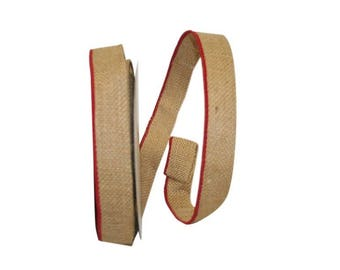 "1 1/4"" Old Tyme Burlap Ribbon = WE"