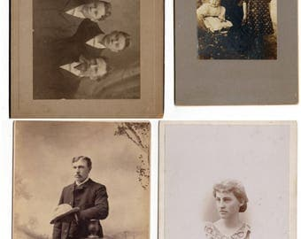 Cabinet card lot four photos