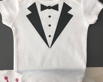 Baby Tuxedo Onesie