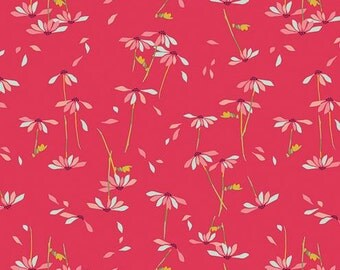 KNIT Fabric: Art Gallery He Loves Me Abloom Cotton Lycra Knit Fabric. Sold by the 1/2 Yard