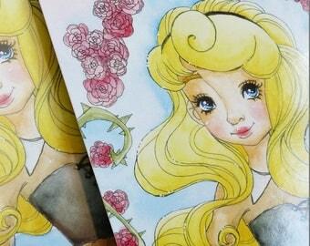 Art Print: Disney inspiriert Aurora Sleeping Beauty Dornröschen