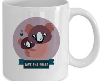 Koala white coffee mug. Funny Koala gift