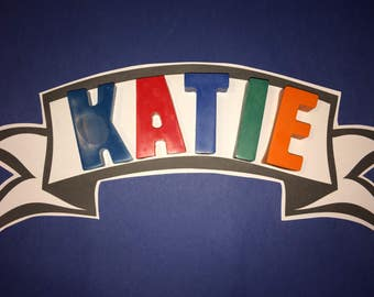 Large letter PERSONALISED NAME Crayons