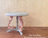 Miniature Table, French Dollhouse, Miniature End Table, Dollhouse Parlor, Miniature Parlor, French Country Miniatures
