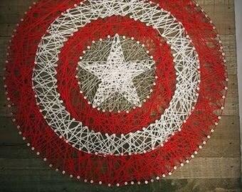 Captian America String Art