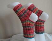 Knitted  mérino wool yoga socks ,handmade