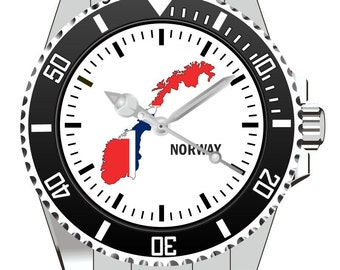 Norway Norway country outline clock - watch 1101