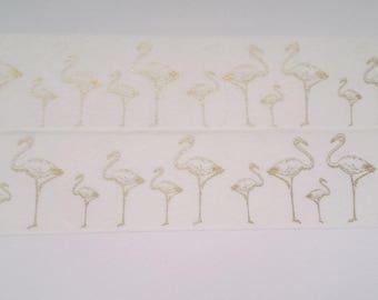 Design Washi Tape Flamingo Gold