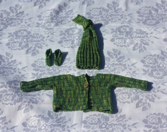 Bespoke Hand Knitted Cardigan Set - Baby - Newborn to 9 Months - Made to Order