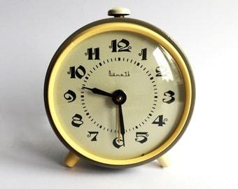 "Alarm clock. Soviet clock. Vintage russian alarm clock ""Vytyaz"". Soviet Alarm clock. Vintage alarm clock. Working Vintage clock. USSR alarm"