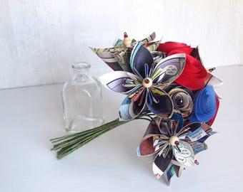 Small Spiderman Comic Paper Bouquet