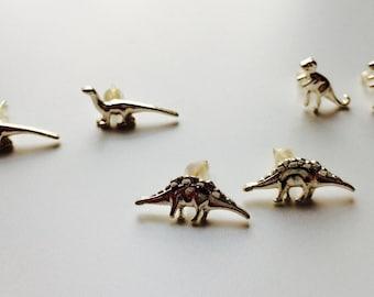Dinosaur   T-rex   Diplodocus   Stegosaurus   Raptor   Cute   Retro   Earrings
