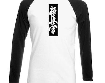kyokushinkai long sleeve tshirt , shinkyokushin, Oyama , black white made on order