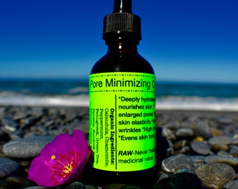 Pore Minimizing Oil-Raw & Organic,extra strength, vegan, evens skin tone, anti-aging daily face oil, Face Cleansing Oil