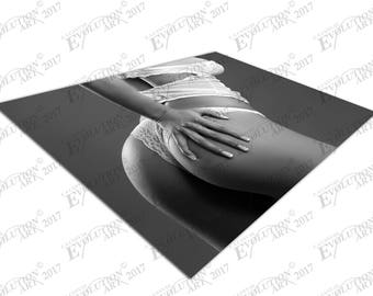 Print on Canvas white Lingerie Stunning female model X1594