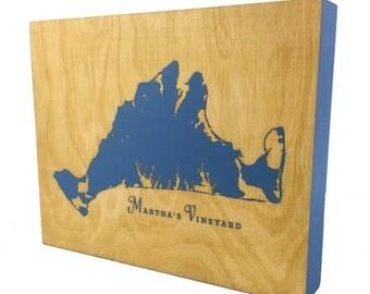 Martha's Vineyard Chart - 8x10 | MV | Vineyard Map | Martha's Vineyard Sign | Martha's Vineyard Art | Martha's Vineyard Gifts | Maine Made