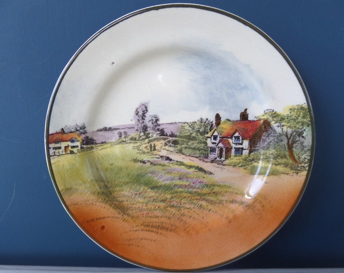 Royal Doulton Countryside Cottages Series Ware, FREE SHIPPING, Antique Decorative Plate, 1902-1922 Backstamp, Immaculate Condition, 6.5""