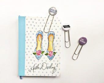 planner clip // pinback button planner clips // planner accessories // to do planner clip // bookmark / button bookmark / Ravenclaw bookmark