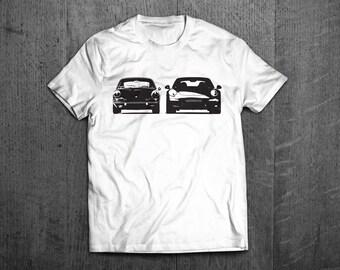 Porsche shirts, Porsche 911 old vs. new t shirts, german racing shirts, car tshirts, cars shirt, men t shirts women t shirts classic porsche