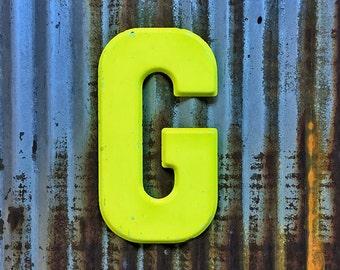 Vintage Metal Marquee Sign Letter, Metal Letter G, Industrial Metal Metal Letter, Sign Letter