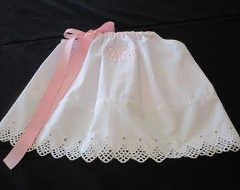 Girl White Pillowcase Dress-Personalized Dress-Christening Dress-Baptism Dress-Baby Dedication Dress-Portrait Dress-Flower Girl Dress