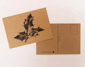 Cardboard Christmas card ' Hulst '.
