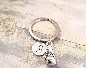 Boxing Keychain, Kickboxing key ring, workout keychain, boxing glove charm, fight cancer charm, boxing glove keychain, gift for her, mma