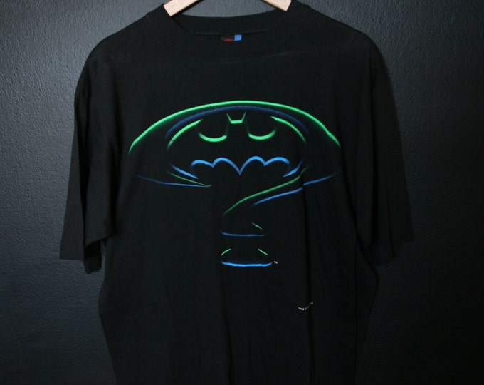 Batman Forever Glow in the Dark 1994 vintage Tshirt