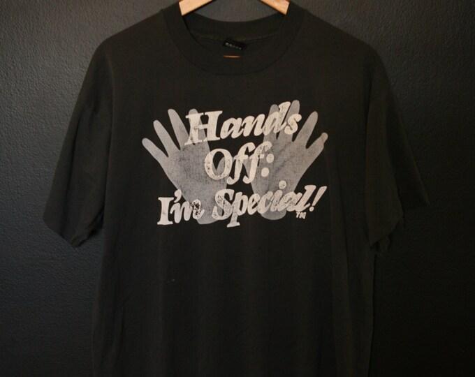 Hands Off! I'm Special 1990s vintage Tshirt