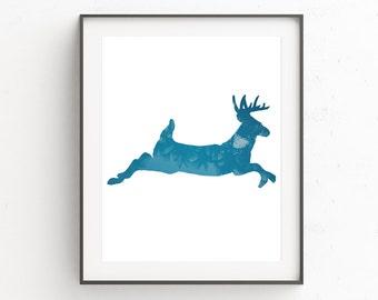 Forest Animal Wall Print, Woodland Nursery Wall Decor, Woodland Nursery Wall Print, Forest Animal Wall Art, Deer Print, Deer Art