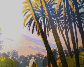 Vintage image print 'La Tunisie'