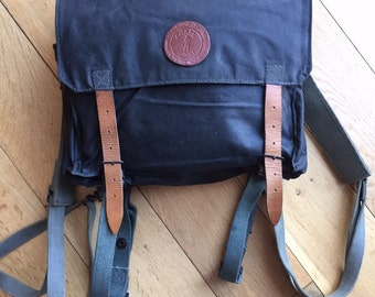 Rogue one...Robust cotton canvas and leather rucksack messenger bag. Vintage refurbished. Star wars Rogue one style.