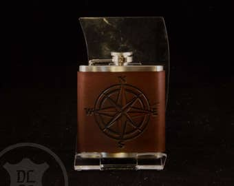 Compass Rose 6oz Flask