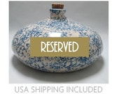 RESERVED FOR PAUL---Antique Pacific Stoneware Co. Spongeware Foot Warmer/Bed Warmer
