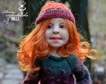 Handmade Doll- Krysia -53cm (KO 20'17) - textile doll- fabric doll- rag doll- home decoration- handmade toy-cloth dolls-fabric dolls