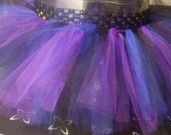 Purple, blue and black tutu