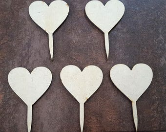 Wooden Cupcake Toppers (Pack of 5)
