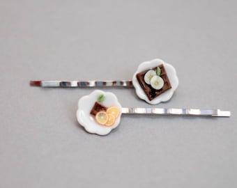Hair Clips Miniature desserts