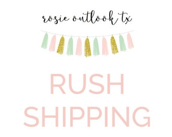 Rush shipping - USPS Priority