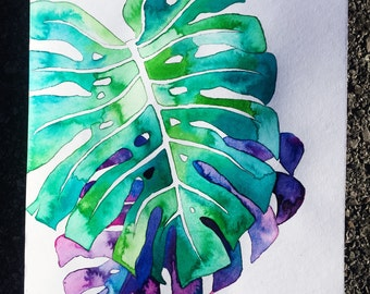 Philodendron Leaf Painting