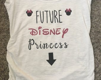 Future Disney Prince or Princess Maternity Shirt // Disney Shirt // Pregnancy Announcement // Matching Shirts