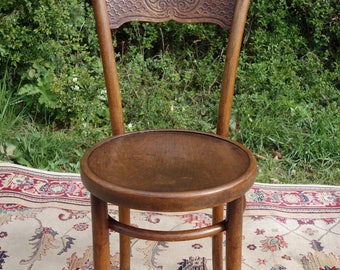 Vintage Bentwood Chair,  Original Antique Bent Wood  Chair,  Bentwood Vintage Bar Chair, Classic Bistro Chair