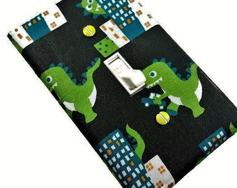 Dinosaur Nursery Decor | Dinosaur Bedroom Decor | Dinosaur Wall Art | Suiteplat | Dinosaur Light Switch Cover