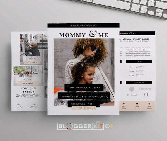 Three page media kit template press kit template for Digital press kit template free